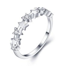 Noble High Quality Exquisite 925 Sterling Silver Jewelry Ring Little Star Small silver ring For Women NBR005
