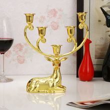 Luxurious Deer Candle Holders alloy Candlestick Candelabra For Wedding