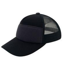 Unisex Plain Kids Baseball Cap Youth Mesh Unqiue Fashion Trucker Blank Cap Adjustable Snapback For Boys and Girls Black/Dark Grey