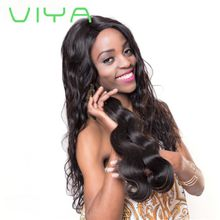 VIYA Unprocessed Human Hair Body Wave Indian Virgin Hair 3 Bundles Natural Color WY905Y