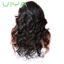 VIYA Brazilian Virgin Human Hair 3 Bundles Body Wave Weft Human Hair Extensions Natural Color WY830H
