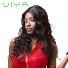 VIYA Brazilian Virgin Human Hair 3 Bundles Body Wave Weft Human Hair Extensions Natural Color 10-30 inch WY905Y