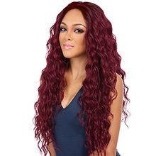 Burgundy Long loose wave synthetic Wigs for Women Wavy Hair Wig Loose Deep Wave Heat Resistant Fiber Full Wig china factory supply OEM