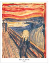 home art picture wall decoration posters canvas painting Print Poster Imagich Top 100 prints The Scream c.1893 By Edvard Munch