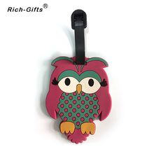 Customized Promotional 3D soft rubber Travel Luggage Tags(RL-002)