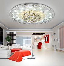 Moderne LED-Deckenleuchte Runde Wohnzimmer led Kristall Deckenleuchte, Minimalistische Atmosphäre Europäische Lobby Restaurant Kristall Lamp