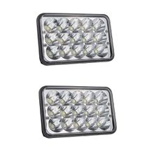 45W 4X6 Auto Led Light High Low 6500K 12V 24V Super Bright for Foden Freightliner Gmc W900/T600/T800/T400/W900B