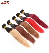 JRX 9A Beauty Colorful 2 Tone Ombre Weave Brazilian virgin Hair Extensions Straight Weave Bundle Deals No Tangle On Sale