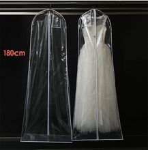 Bag For Wedding Dress Prom Evening Party Gown Bags Transparent PVC Dust 180*58 CM Wedding Accessory Garment Cover Travel Storage Dust Covers