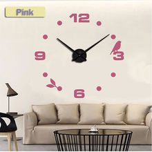Wholesale-2017 muhsein New Clock Watch Wall Clocks 3d Large Diy Acrylic Mirror Stickers Wall Clock Home Decoration Living Room