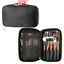 Professional Cosmetic Case Makeup Brush Organizer Makeup Artist Case with Belt Strap Holder Multi functional Cosmetic Bag Makeup Handbag