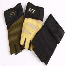 Unisex Tactical Glove with Long Belt Wrist Protection Gloves Army Combat Hlaf Finger Gloves breathable and Comfortable
