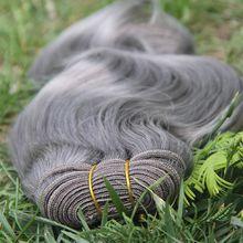 Brazilian Body Wave Hair Bundle 100g Gray Human Hair Weave 7a Silver Grey Hair Extensions