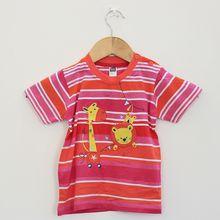 Cotton Baby Boys Sleeve T-shirt Kids Stripe Shirt Cartoon Casual Top
