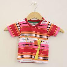 New arrival cotton monkey boy top tee short children T shirt Clothing Kids Fashion Striped short Sleeve