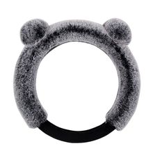 The new car steering wheel cover of the winter universal short plush steering wheel sets the female lovely seasons d type