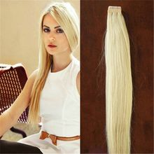 Use of Human Hair 100g 40Pcs/lot Blonde Brazilian Virgin Remy Skin Weft Tape Adhesive Hair Extensions Products Tape Hair Extensions