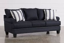 Lifestyle Solutions Genova Microfiber Sofa In Black