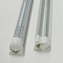 T8 LED Tube Light V-shaped Integrated 8ft 6ft 5ft 4ft 3ft 2ft 1ft 36-6W AC85-265V PF0.95 2835SMD 384LEDs-48LEDs Aluminum Fluorescent Lamps