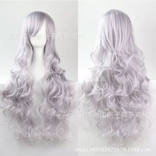 Wig COS wig 80CM long curly hair high temperature silk multicolor curly anime spot factory outlets in Europe and America