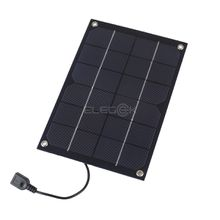 6W 5V Semi-Flexible Monocrystalline Solar Panel Cell USB Output with Regulator for Charging Cell Phone PowerBank 5V Device