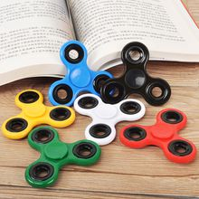 Cheapest HandSpinner Fingertips Spiral Fingers Fidget Tri Spinner EDC Hand Spinner Acrylic Plastic Fidgets Toys Gyro Toys with
