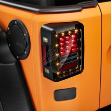 Jeep JK 07-16 led tail light reverse day time running brake signal light clear red amber rear light
