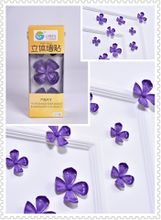 Flower 3D Wall Stickers Purple color(12pcs/box)
