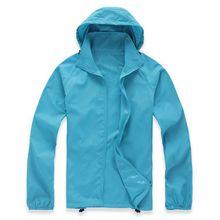 2018 New Summer Womens Mens Brand Rain Jacket Coats Outdoor Casual Hoodies Windproof and Waterproof Sunscreen Face Coats Black White XS-XXXL