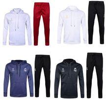 Survetements de foot 2016 17 Real madrid hoodie Champions Maglie calcio juv football football Lewandowski Dybala Gareth Bale soccer suit