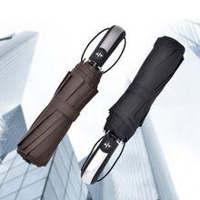 10 Bones Auto business umbrella high grade folding umbrella sunny and rainy winterproof automatic umbrella for adult diameter 105cm