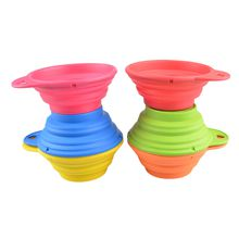 Collapsible Outside Travel Portable Durable Folding Retractable Silicone Pet Dog Cat Expandable Water Food Feeding Bowl