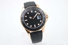 43mm black dial Ceramic Bezel sapphire glass automatic mens watch rl15