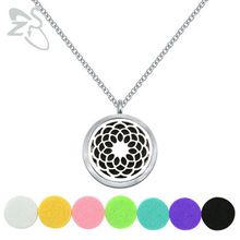 """Aromatherapy Essential Oil Diffuser Necklace Locket Pendant 316L Stainless Steel Jewelry with 24"""" Chain and 6 Washable"""