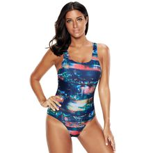 Fashion Push up Plus size swimdress Retro Printing Swim tankini Slimming two pieces bathing suit female one piece swimwear swimsuit