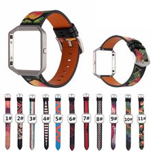 Customize For Fitbit Blaze Band Genuine Leather Replacement Wrist Band Strap for Blaze Smart Watch with Metal Frame