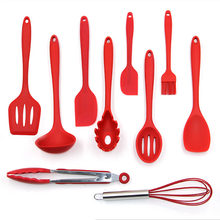 Eco-Friendly Cooking Kit high quality custom silicone kitchen product china for cooking With Spoon Soup Ladle Noodle