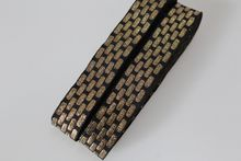 Customiz wholesale Woven Jacquard Ribbon about 2.5cm gold vintage style geometric For curtain and clothing accessory LS-0541
