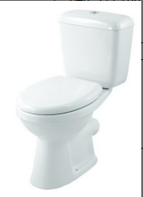 wash down two piece p-trap toilet
