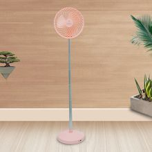 Household Fan Height Adjustment Aluminum Alloy Rod Retractable Compact Table Fan for Easy Storage Humidification