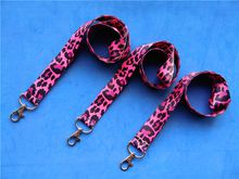 Ready Stock Lanyard Wholesale Black and RedLeopard Badge Lanyard for Keys CHEETAH neck strap Animal Print