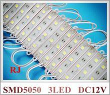 SMD5050 waterproof LED light module SMD 5050 LED module light for sign DC12V 3 led 45lm 0.72W IP65 75mm*12mm