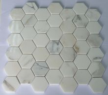 Fashionable Hexagon Marble Mosaic Tile White Color with 48x48mm for kitchen backsplash and bathroom surrounding and floor 10pcs/lot