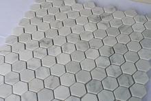 Simple and Decent Longlasting Fashion Hexagon Carrara Natural Marble Mosaic Tile Honed with 25x25mm easy for wall and flooring use 10pcs/lot