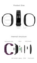 Heart Rate Smart Band Activity Fitness Tracker Smart Wristband IP68 swimming Waterproof bluetooth Bracelet For IOS Android