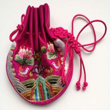 Hand Embroidered Sachet Silk Bag Pouch Fortune Bag Fashion Accessory to Put Perfume Luxury Diamond Ring