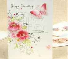 Full Color Logo Printing Paper Card Textured Greeting Card Birthday Card