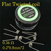 Pre Built Coils Alien Fused Clapton Flat Mix Twisted Hive Quad Tiger 9 Types Heating Resistance wrap wires RDA premade coil wire Top quality