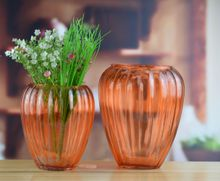 Set of 2 handpaint gaint glass vase