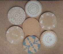 Used To Put The Wine,Drink,Glass With Non-Slip, Clean Effect Of Craft Cork Custom Coasters